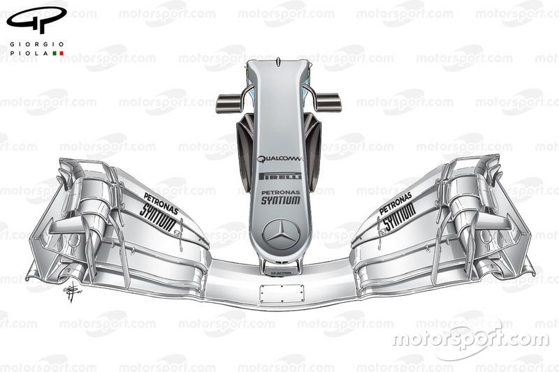 Mercedes F1 W08: Nase, GP Spanien