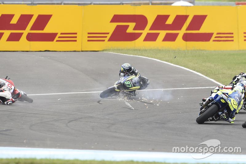 Remy Gardner, Tech 3 Racing, crash