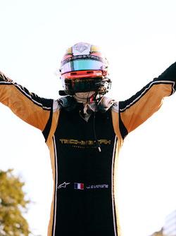 Jean-Eric Vergne, Techeetah, celebrates after winning the race