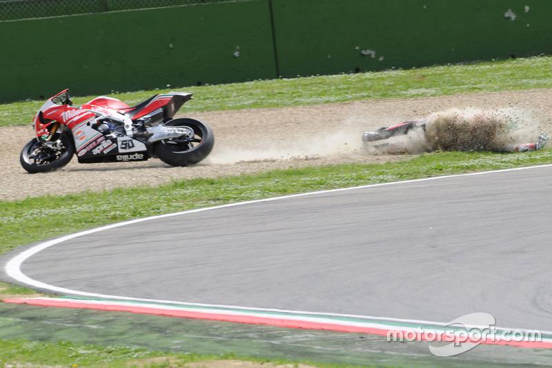 Аварія Юджина Лаверті, Milwaukee Aprilia World Superbike Team