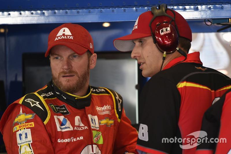 Dale Earnhardt Jr., Hendrick Motorsports, Chevrolet, mit Crewchief Greg Ives