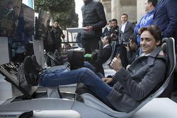 Esteban Gutiérrez en un simulador