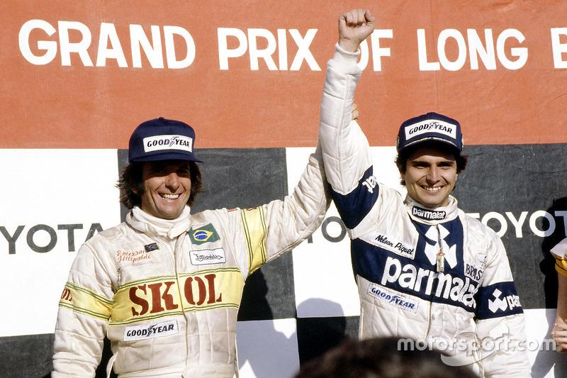 O último pódio de Emerson na Fórmula 1 pode ser tido como uma bela passagem de bastão entre dois ídolos do automobilismo brasileiro. Aquela prova em Long Beach no ano de 1980 foi marcou a primeira vitória de Nelson Piquet.