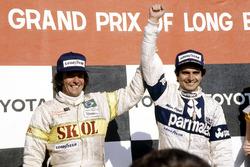 Yarış galibi Nelson Piquet, Brabham BT49-Ford Cosworth; 3. Emerson Fittipaldi, Fittipaldi F7-Ford Cosworth