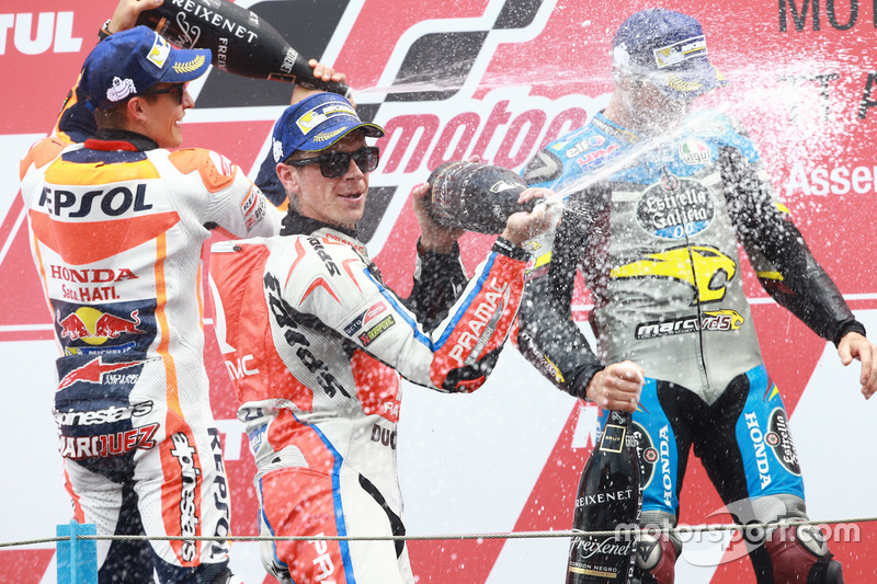 Podyum: 1. Jack Miller, Marc VDS Racing Honda, 2. Marc Marquez, Repsol Honda Team, 3. Scott Redding, Pramac Racing
