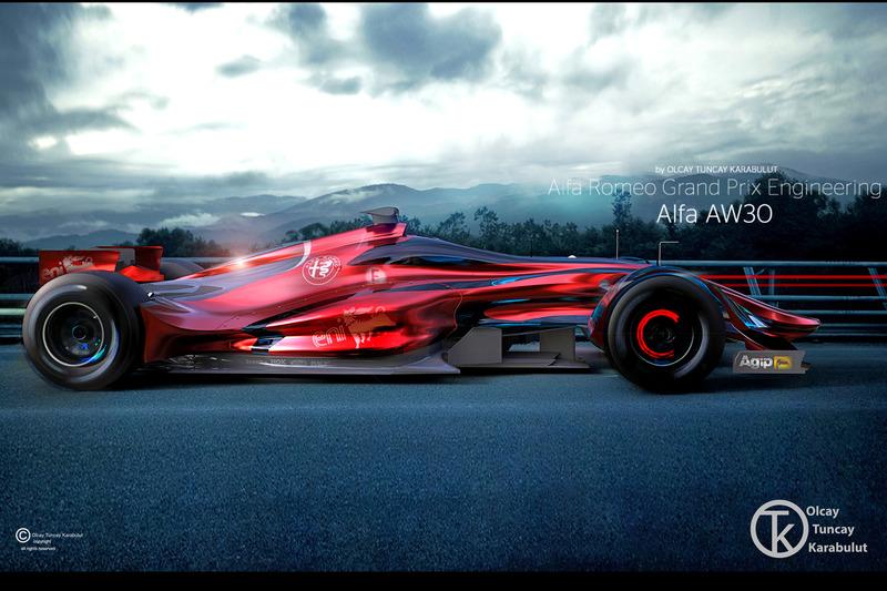 Designstudie voor Alfa Romeo