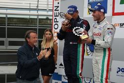 Podio GA: al secondo posto #32 Antonelli Motorsport Lamborghini Huracan Super Trofeo: Omar Galbiati,