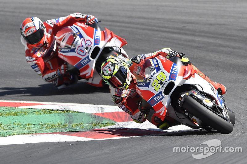 Andrea Iannone, Ducati Team, und Andrea Dovizioso, Ducati Team