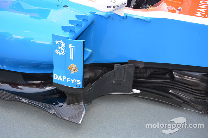 Manor Racing MRT05 sidepods detail