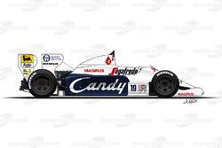Toleman TG184 conducido por Ayrton Senna