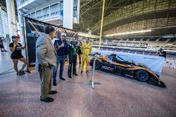 Race of Champions President Fredrik Johnsson, Kurt Busch and Ryan Hunter-Reay