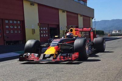 Red Bull Racing Mugello Pirelli testing