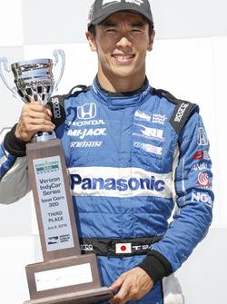 Takuma Sato, Rahal Letterman Lanigan Racing Honda, podium