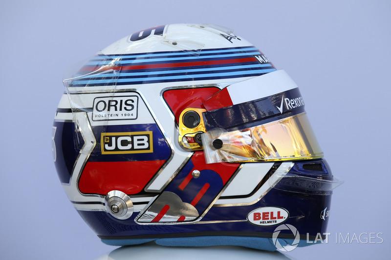 Casco de Sergey Sirotkin, Williams