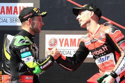 Podium: ganador, Marco Melandri, Aruba.it Racing-Ducati SBK Team, segundo, Jonathan Rea, Kawasaki Racing