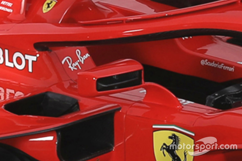 Ferrari SF71H wing mirror detail