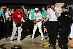 Lewis Hamilton, Mercedes AMG F1, Toto Wolff, Mercedes AMG F1 Director of Motorsport and Valtteri Bot