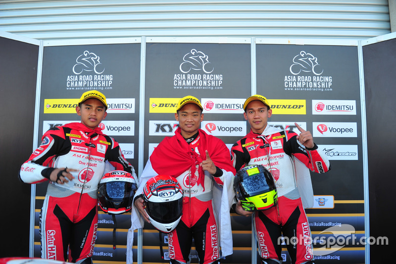 Mario Suryo Aji, Rheza Danica dan Awhin Sanjaya, Astra Honda Racing Team