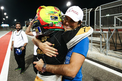 2017 champion Pietro Fittipaldi, Lotus, with Nelson Piquet Jr.