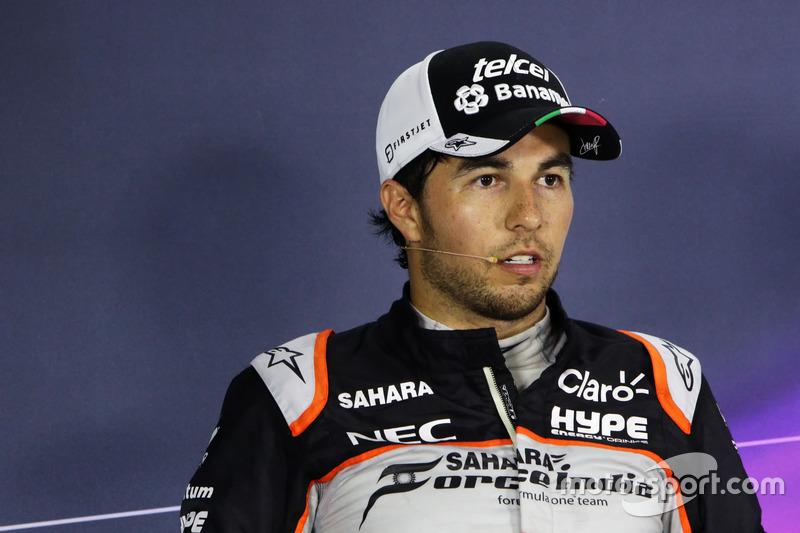 Sergio Pérez, Sahara Force India F1 en la Conferencia de prensa FIA