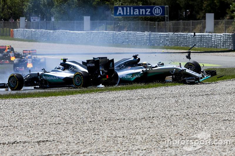 2016赛季西班牙大奖赛:与队友汉密尔顿的碰撞