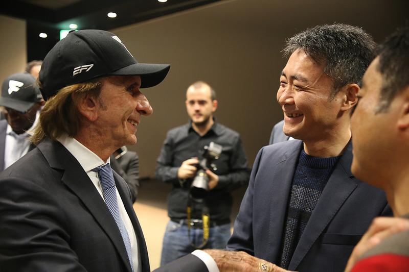 Эмерсон Фиттипальди и Кадзунори Ямаути, глава студии Polyphony Digital