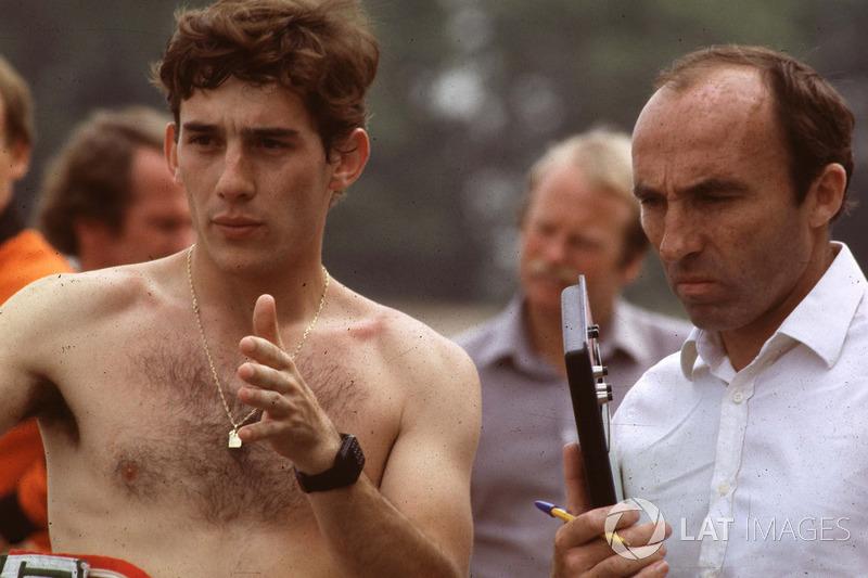 Ayrton Senna und Frank Williams, Williams-Teamchef
