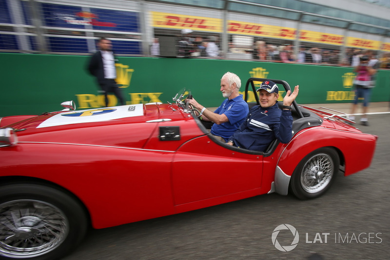 Marcus Ericsson, Sauber en el desfile de pilotos