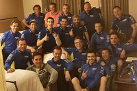 Alex Rins, Team Suzuki MotoGP with his team