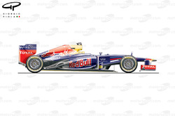 Red Bull RB8 side view