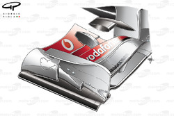 McLaren MP4-25 revised front wing endplate