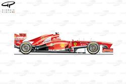 Ferrari F138 side view, British GP