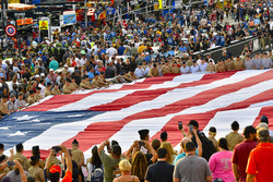 USA Flag at pre race
