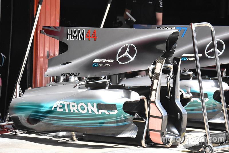 Mercedes AMG F1 W08, detalle trasero