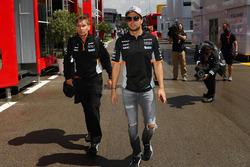 Sergio Perez, Sahara Force India et Xavi Martos, entraîneur