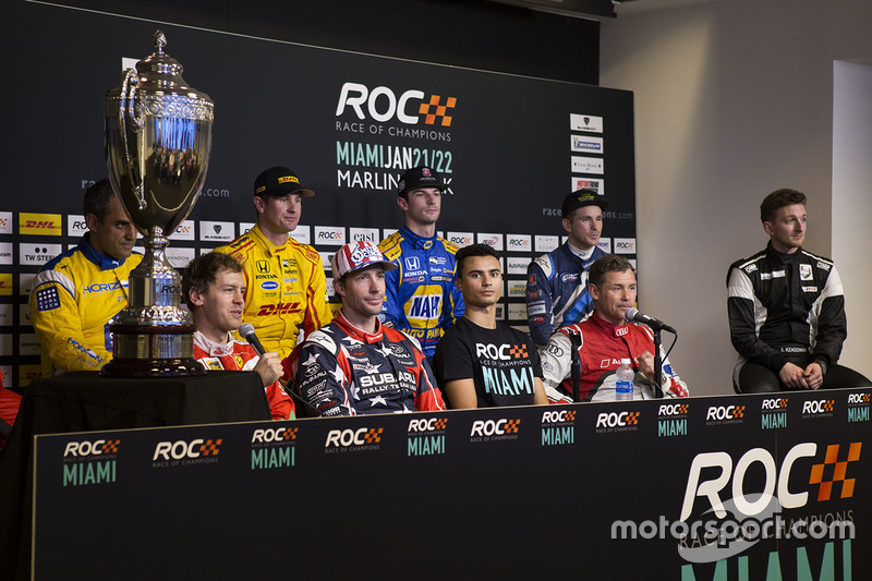 Sebastian Vettel, Travis Pastrana, Pascal Wehrlein, Tom Kristensen, Juan Pablo Montoya, Ryan Hunter-Reay, Alexander Rossi, Scott Speed, Stefan Rzadzinski