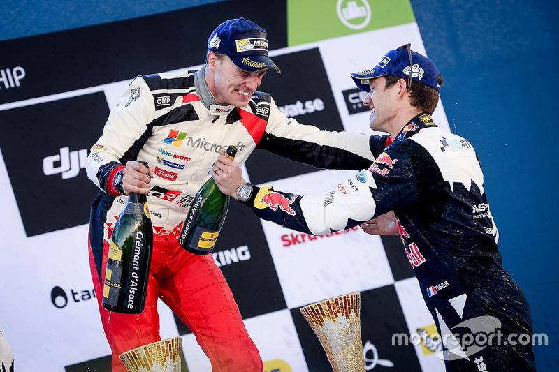 1. Jari-Matti Latvala, Toyota Racing; 3. Sébastien Ogier, M-Sport