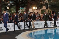 Esteban Ocon, Force India F1, Marc Gene, Ferrari, Daniil Kvyat, Scuderia Toro Rosso, Stoffel Vandoorne, McLaren, Marcus Ericsson, Sauber and Pascal Wehrlein, Sauber