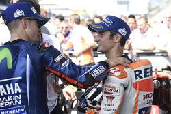 Winner Maverick Viñales, Yamaha Factory Racing, third place Dani Pedrosa, Repsol Honda Team