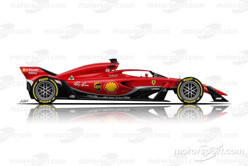 Boceto del Ferrari de F1 2021