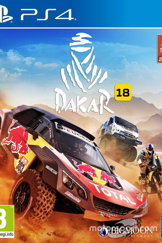 Carátula del Dakar 2018 para PS4