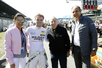 Lucas Auer, Mercedes-AMG Team HWA with Jean Todt, FIA President, Gerhard Berger, ITR Chairman