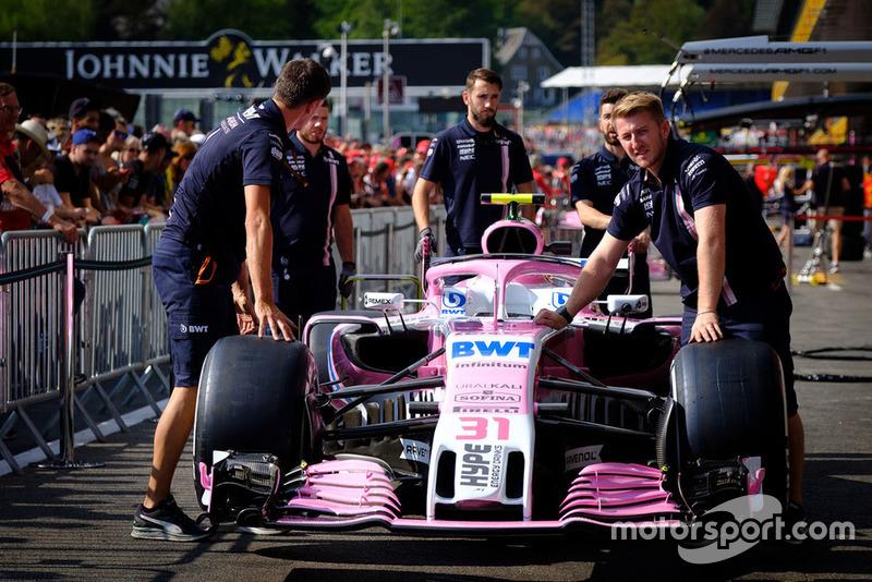 El Force India VJM11 de Esteban Ocon