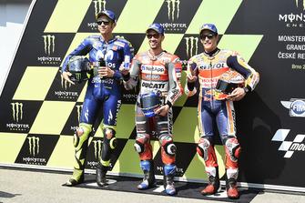 Polesitter Andrea Dovizioso, 2. Valentino Rossi, 3. Marc Marquez