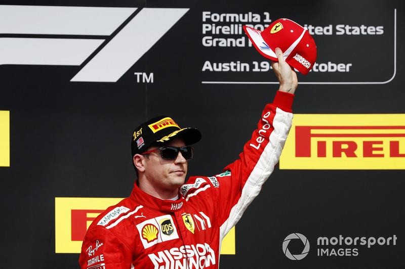 Podio: ganador de la carrera, Kimi Raikkonen, Ferrari
