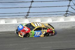 Kyle Busch, Joe Gibbs Racing Toyota, crashes in turn 3