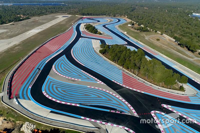 El circuito Paul Ricard de Castellet después del trabajo de la pista