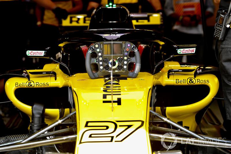 Volant de la Renault Sport F1 Team R.S. 18