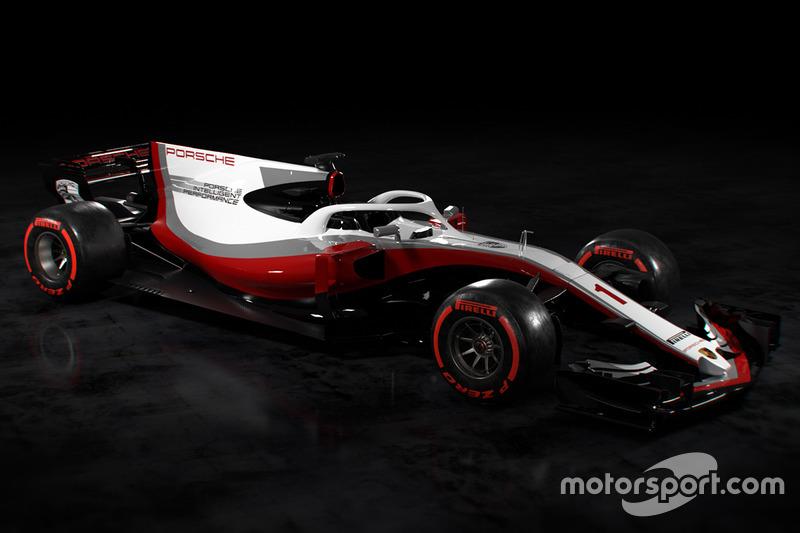 Livrée du concept Porsche F1 de Motorsport TV