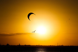 Sunset over the sea in Melbourne, Australia